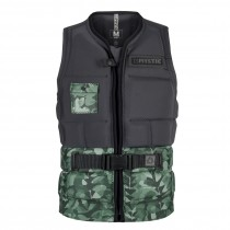 MYSTIC Shred WAKE IMPACT Vest Front Zip - Green Allover - 2018