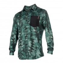 MYSTIC Shred Blouse Quickdry L/S - Green Allover - 2018