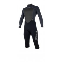 MYSTIC Brand 3/2mm Longarm Shortleg Back Zip Wetsuit - Black - 2019