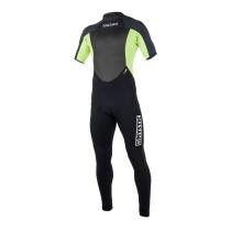 MYSTIC Star Shortarm 3/2mm Back Zip Wetsuit - Lime - 2019