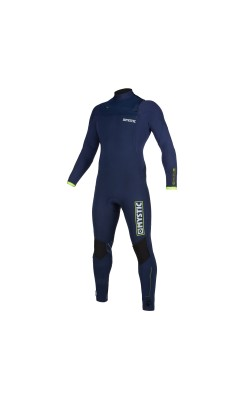 Mystic Marshall 5/3mm - Front Zip Wetsuit - Navy/Lime