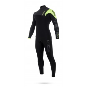 Mystic Majestic 4/3mm - Zipfree Wetsuit- Black/Lime - 2018