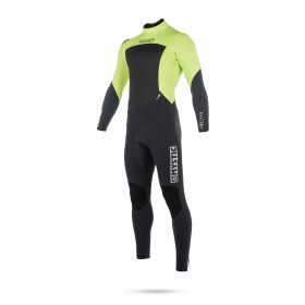 Mystic Star 5/4mm - Back Zip Wetsuit - Lime - 2018