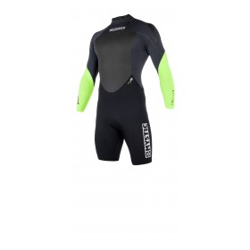 MYSTIC Star Longarm Shorty 3/2mm Back Zip Wetsuit- Lime - 2019