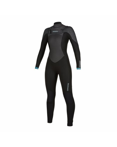 Mystic Gem 6/4/3mm - Front Zip Wetsuit Women - Black - 2020