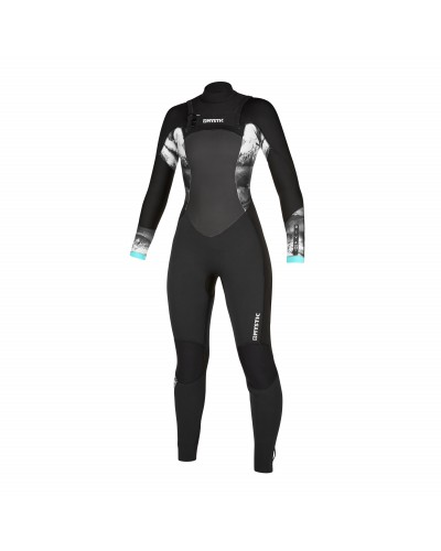 Mystic Diva 4/3mm - Front Zip Wetsuit Women - Black - 2020