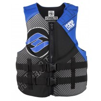 Hyperlite Mens Indy Neo Wake Vest - Black/Blue - 2019