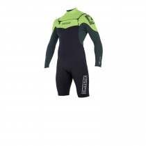 Mystic Star 3/2mm Longarm Shorty Front Zip Wetsuit - Teal - 2019
