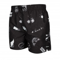 Mystic Coast Boardshort - Black/White - 2020
