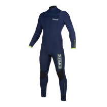 Mystic Marshall 3/2mm - Front Zip Wetsuit - Navy/Lime - 2020