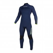 Mystic Marshall 3/2mm - Back Zip Wetsuit - Navy/Lime - 2020