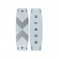 North KB - Focus Carbon Twin Tip Board - White - 2020