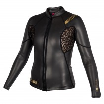 MYSTIC Diva Black Series L/S Jacket Neoprene - Black - 2019