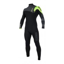 Mystic Majestic 3/2mm - Zipfree Wetsuit - Black/Lime - 2019