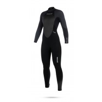 Mystic Star 3/2mm Womens Back Zip Wetsuit - Black/Grey - 2019